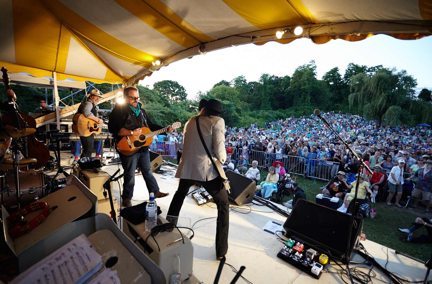The Mavericks at the Clearwater Festival.  Photo credit: Gus Philippas