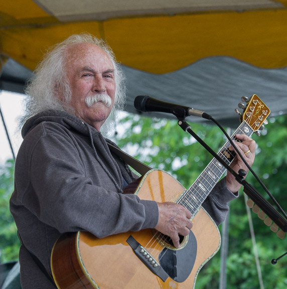David Crosby at the 2015 Clearwater Festival.  Photo credit:  Econosmith