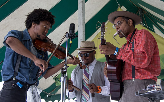 Dom Flemons at the 2015 Clearwater Festival.  Photo credit:  Econosmith
