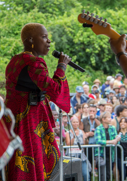 Angelique Kidjo at the 2015 Clearwater Festival.  Photo credit:  Econosmith