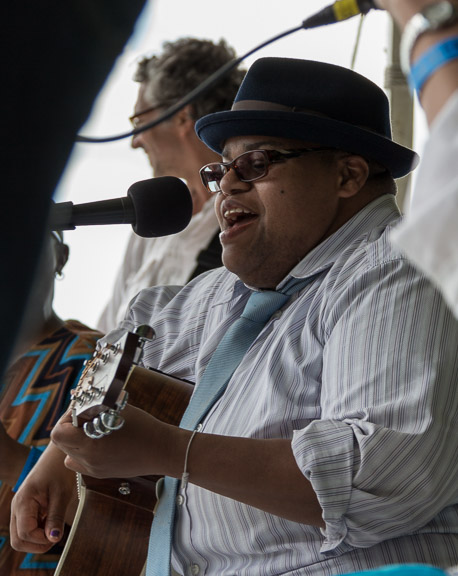 Toshi Reagon at the 2015 Clearwater Festival.  Photo credit:  Econosmith