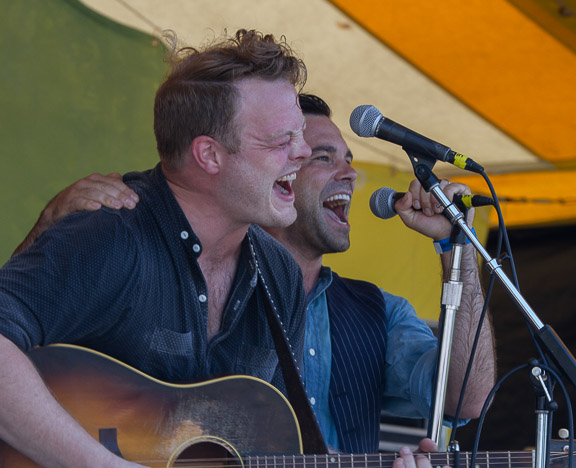 The Lone Bellow at the 2015 Clearwater Festival. Photo credit: Econosmith